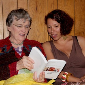Dorothy with Daughter Kaypri - Book Reading